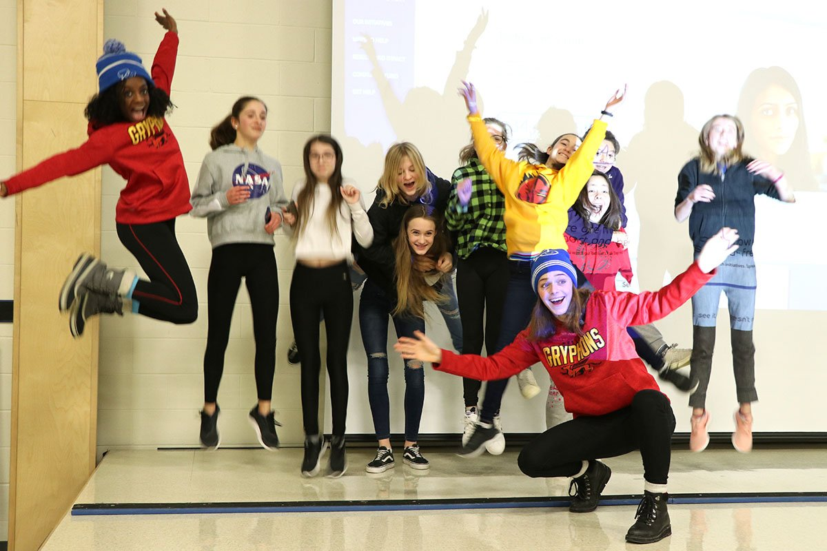 On Jan. 30, 2019, athletes from the University of Guelph came to John Galt PS to speak to students about mental health and wellness.