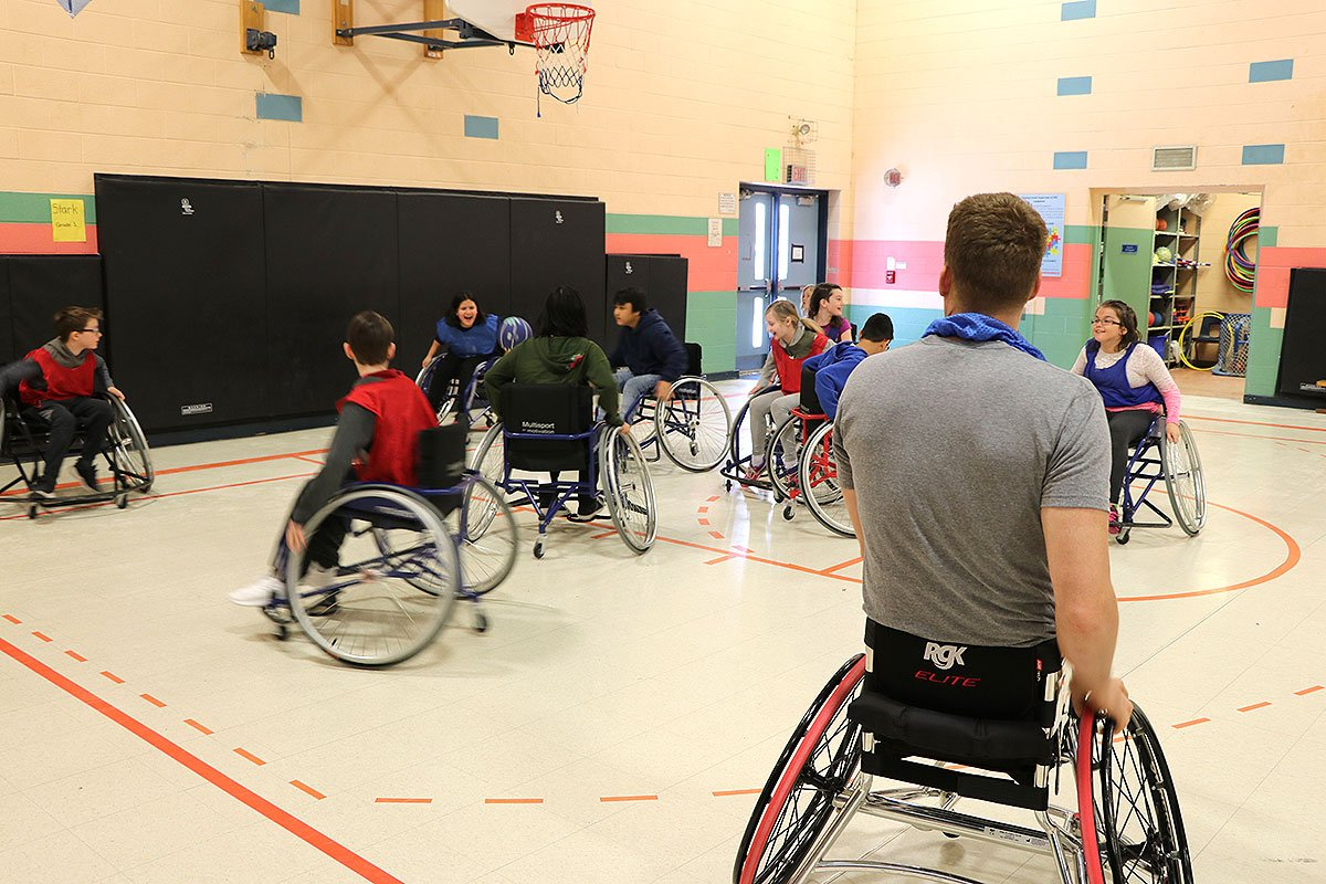 On Jan. 30, 2019, Canadian wheelchair basketball star Patrick Anderson visited Paisley Road PS.