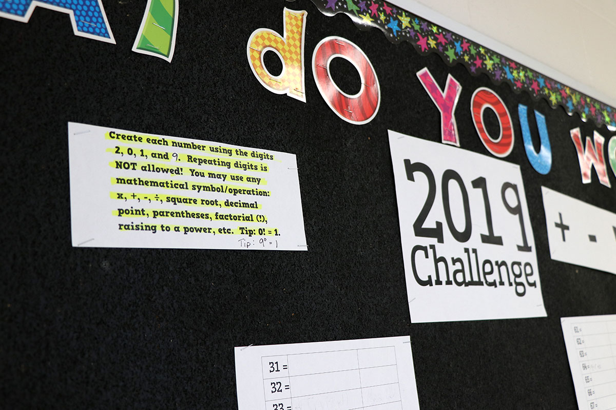 The students at Rickson Ridge Public School are diving into the New Year with an engaging math challenge.