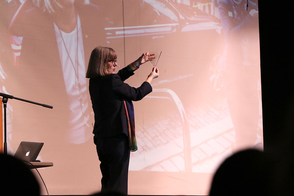 On Friday Feb. 15, Nobel Prize winner Donna Strickland visited Guelph CVI to speak to students.