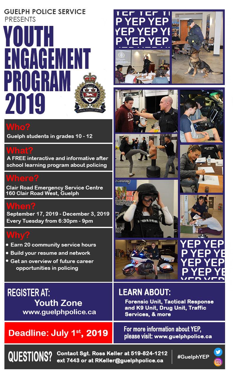 Guelph Police YEP Poster 2019