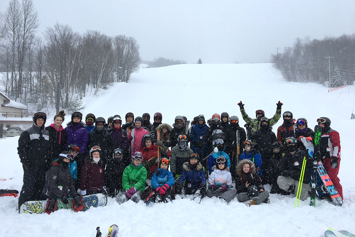 UGDSB students on the annual French trip to St Donat, Quebec. Feb. 10-13, 2019.