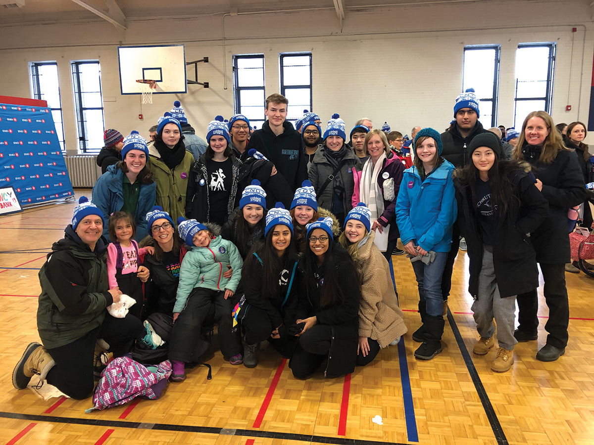 GCVI staff and students participate in the 2019 Coldest Night of the Year fundraiser.