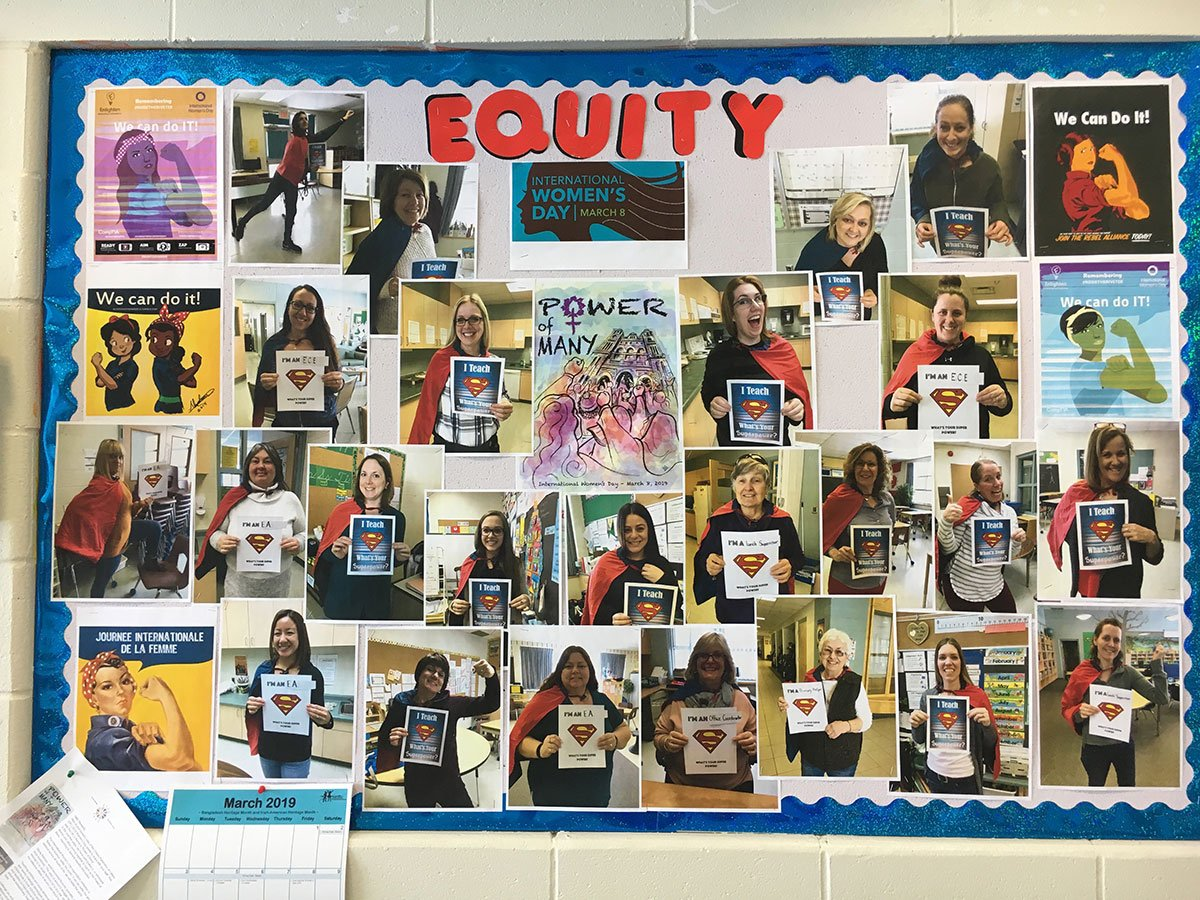 Laurelwoods Elementary School is celebrating International Women's Day by showcasing the strength (and super powers!) of the school's female staff and volunteers.