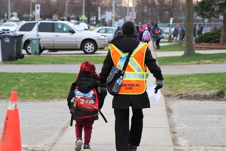 Walking School Bus pilot project kicks off at Mitchell Woods PS