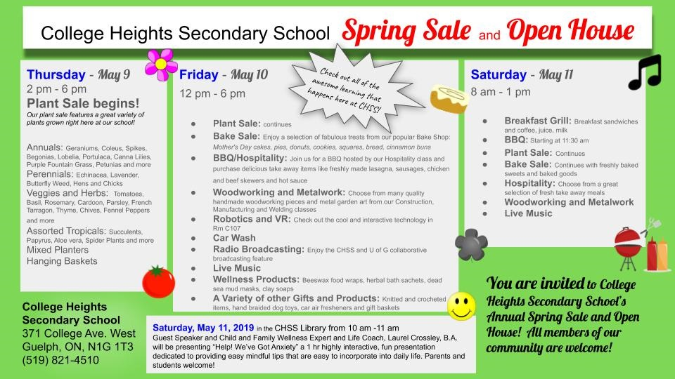 CHSS Spring Sale 2019 promotional flyer