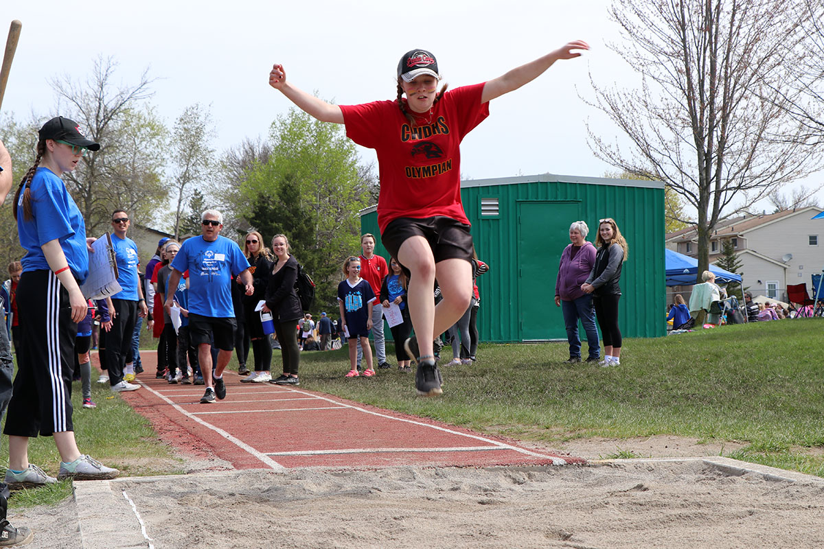 On Wed. May 15, 2019, hundreds of student-athletes, peer coaches, and volunteers attended the 18th annual Special Olympics Track and Field Meet.