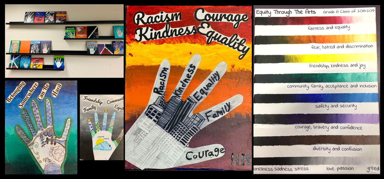 Gateway PS students created works of art for the Equity through the Arts project, May 2019.