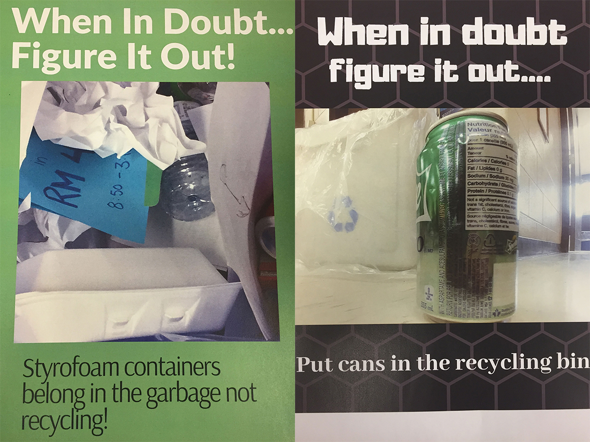 Students at Centre Dufferin District High School are finding creative ways to encourage proper waste sorting and recycling at school.