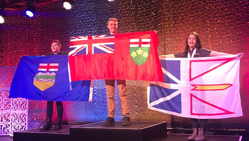 CWDHS students Jade and Kyle won gold at the Skills Canada National Competition, May 2019.