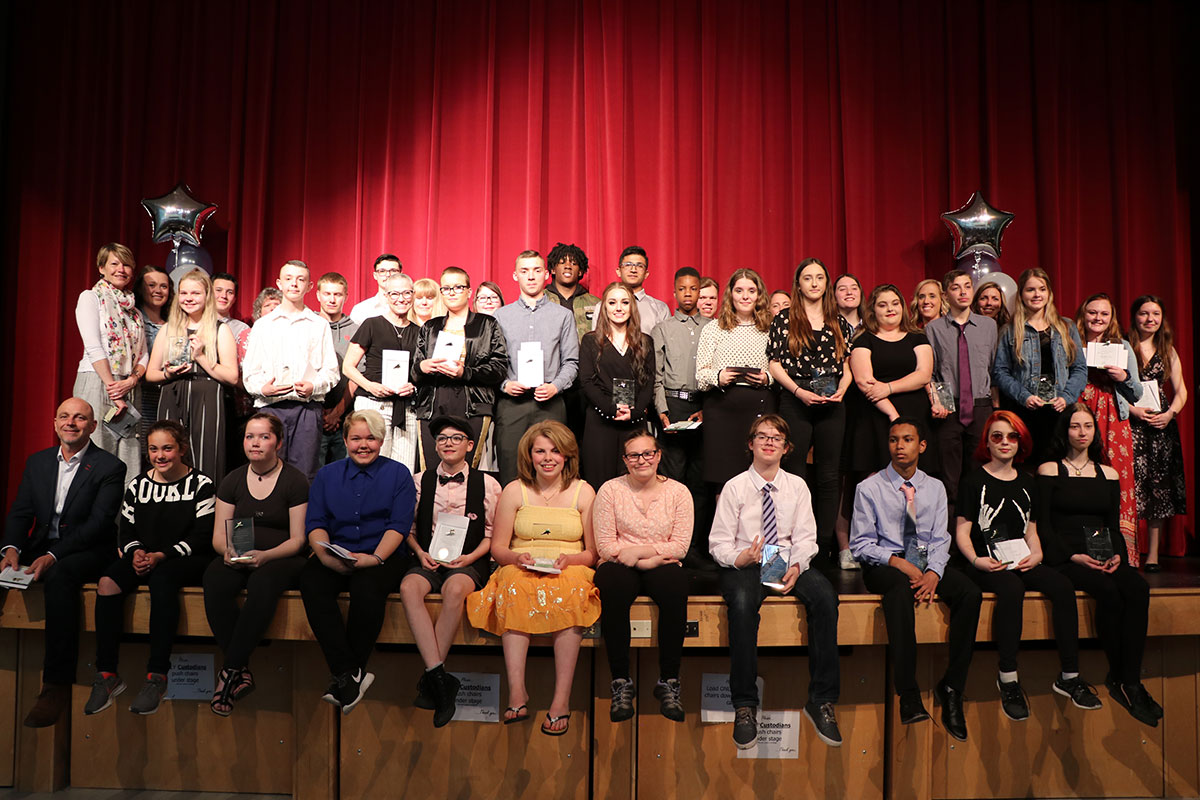 The 2019 Achieving by Believing ceremony was held on June 4, 2019, at Centre Wellington District High School in Fergus.