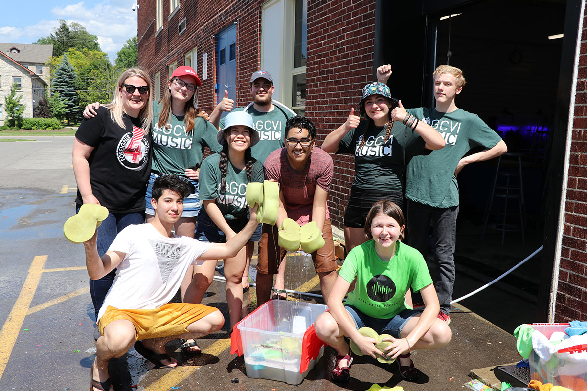 On June 27, 2019, GCVI's Chamber Choir held a charity car wash, raising funds for Shriners Hospital for Children.