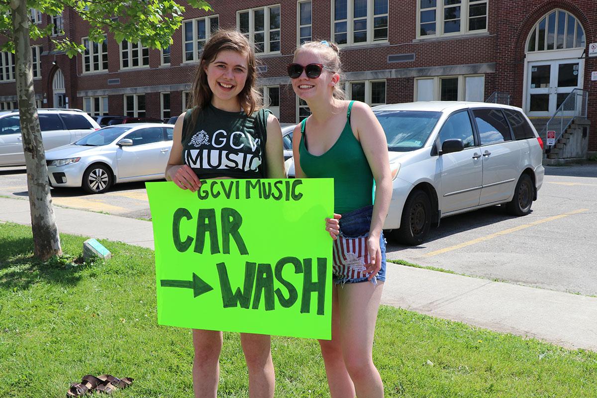 On June 27, 2019, GCVI's Chamber Choir held a charity car wash, raising funds for Shriners Hospital for Children.
