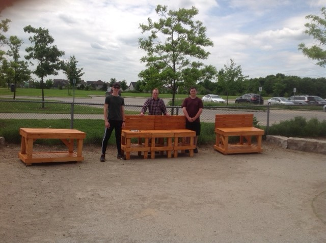 Students at College Heights Secondary School and Westminster Woods Public School have been hard at work designing and building a mud kitchen.