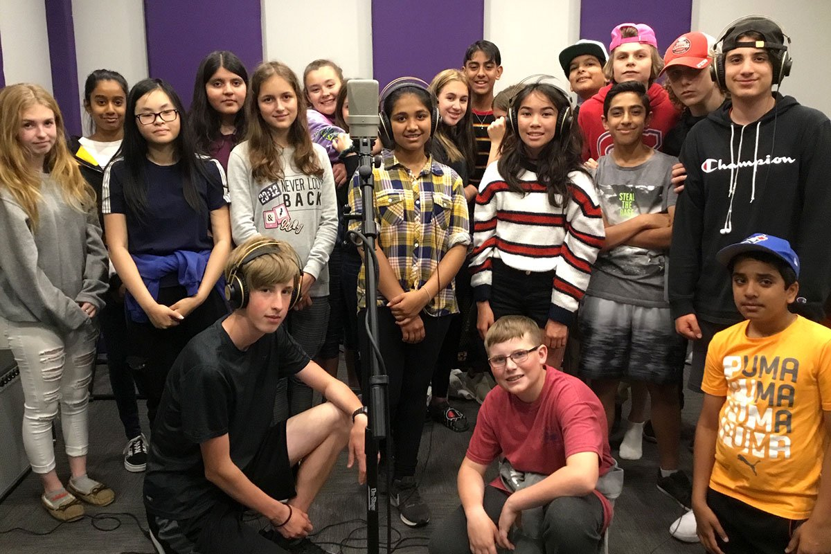 Students at William C. Winegard PS have written and recorded an original song about diversity, June 2019.