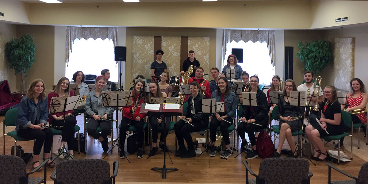 On June 5, 2019, grade 12 music students from Westside SS performed at a number of local retirement residences.