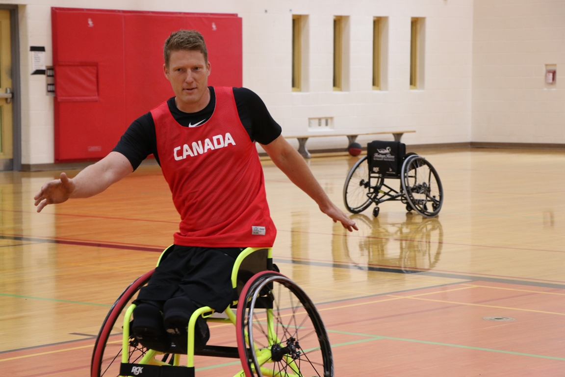 On August 12, four-time Paralympic Champion, Patrick Anderson visited Centre Wellington District High School to film an inspirational and instructional video about wheelchair basketball