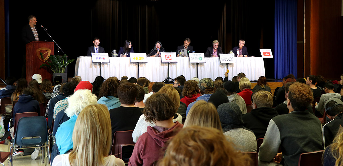 On Monday Oct. 7, 2019, College Heights Secondary School hosted an All Candidates Debate with candidates running in Guelph in the federal election.