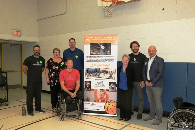 Patrick Anderson launches UGDSB wheelchair basketball program at J.D. Hogarth PS