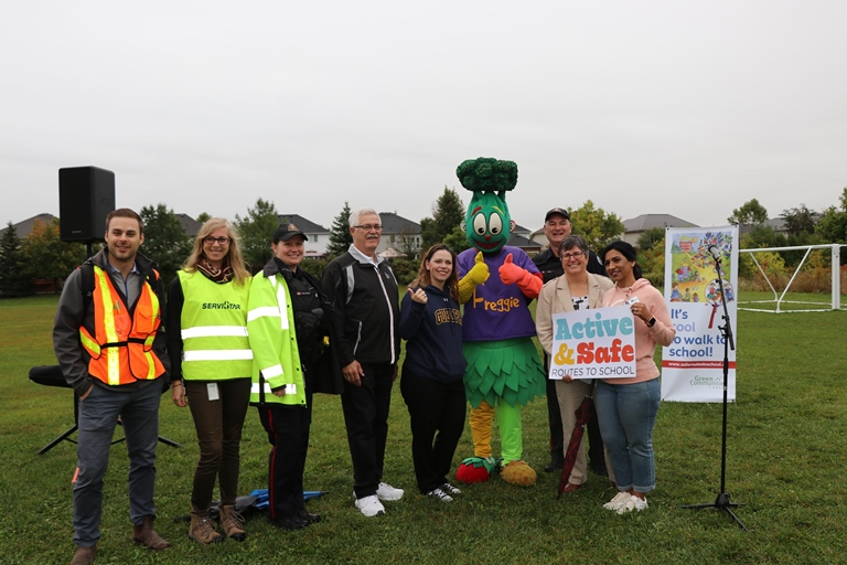 Students and staff from across the Upper Grand District School Board put on their raincoats and boots and walked, biked or rolled to school on October 2.