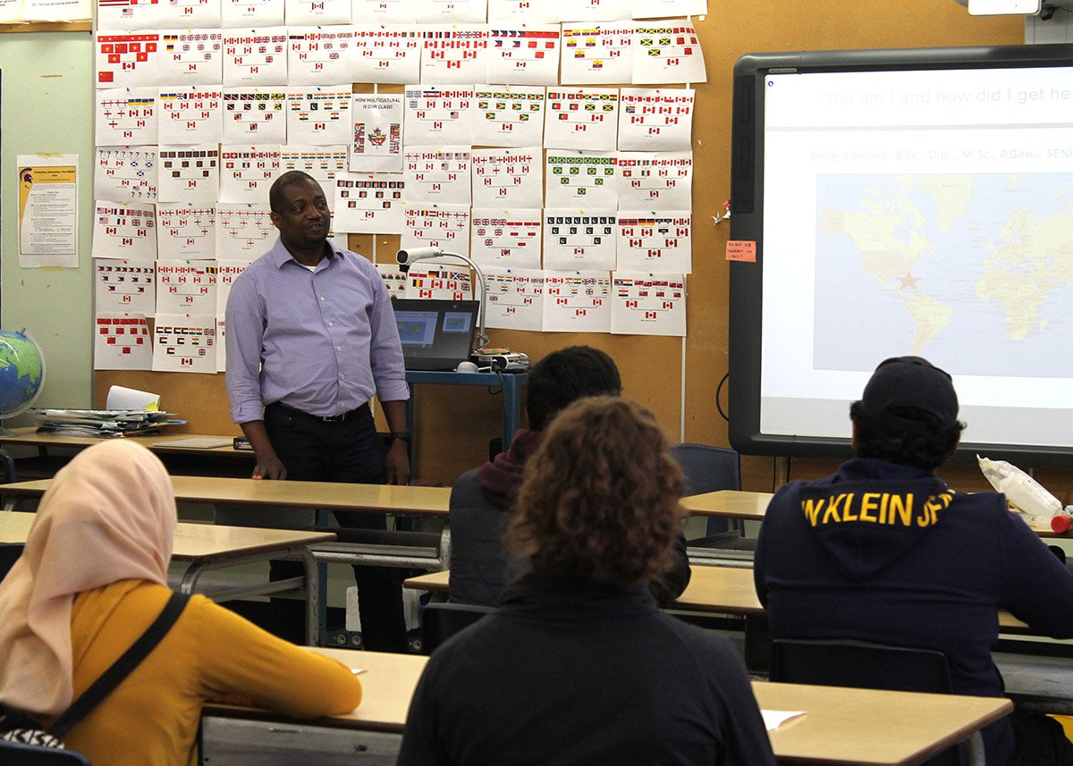 On Wednesday Nov. 6, 2019, Centennial Collegiate Vocational Institute held a career day for the school's grade 11 students.