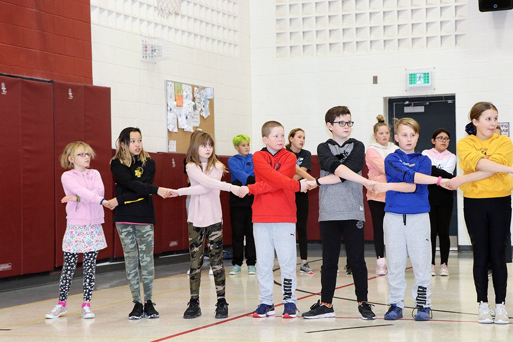 Students at Edward Johnson Public School have been busy this month learning a series of dance moves through the DancED Movement Project.