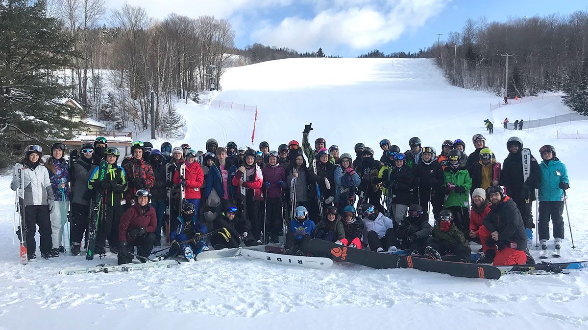 Students from a number of UGDSB secondary schools are pictured in St. Donat, Quebec, on their annual trip. February 2020.