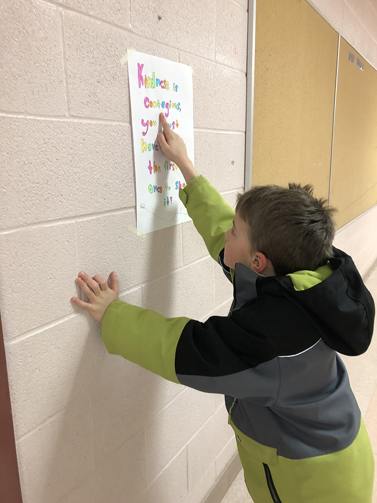 Grade 7 students at Sir Isaac Brock PS spread kindness