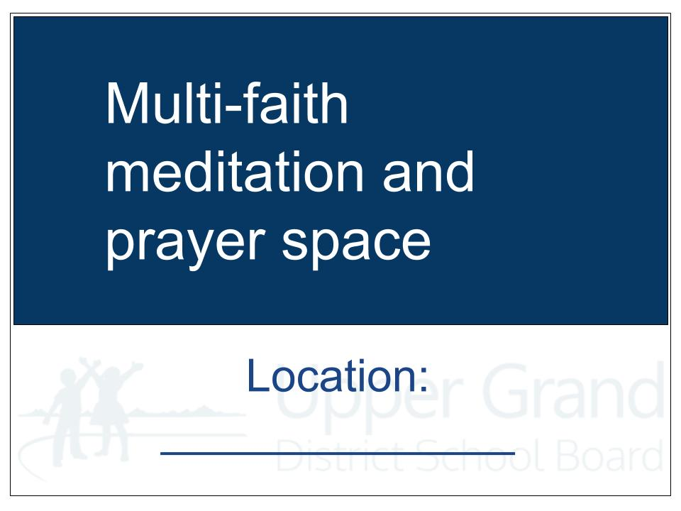 Location Door Sign Prayer Room