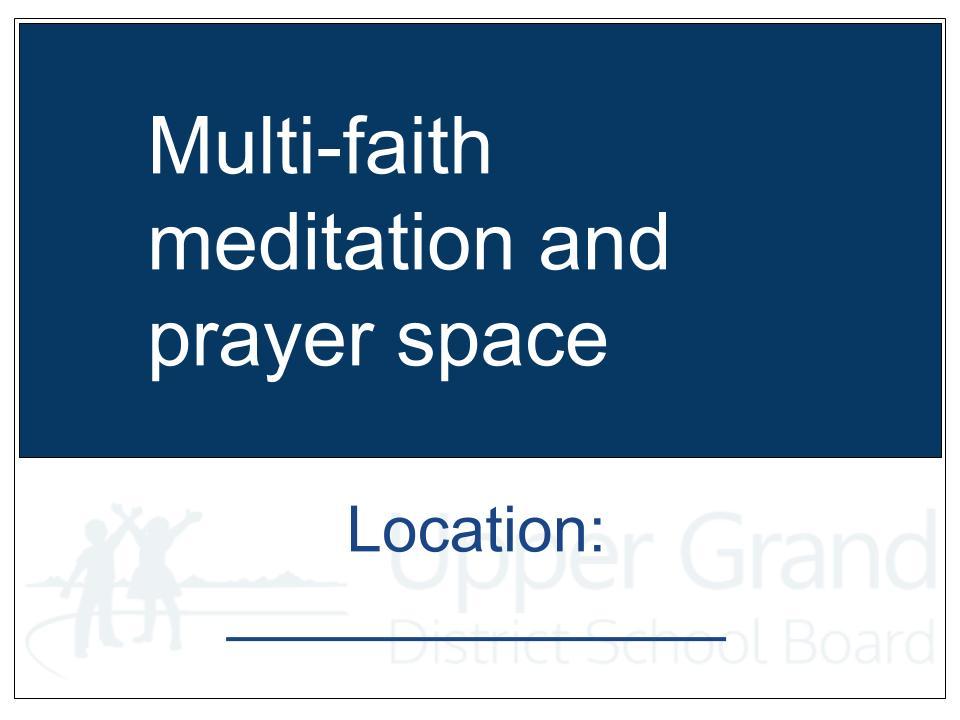 Location Door Sign Prayer Room