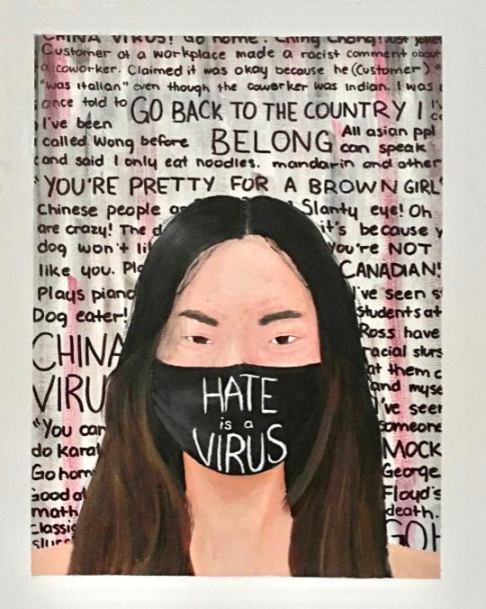 Hate Is A Virus art work