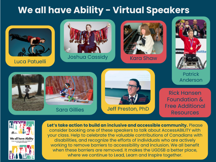 We All Have Ability   Virtual Speakers Poster