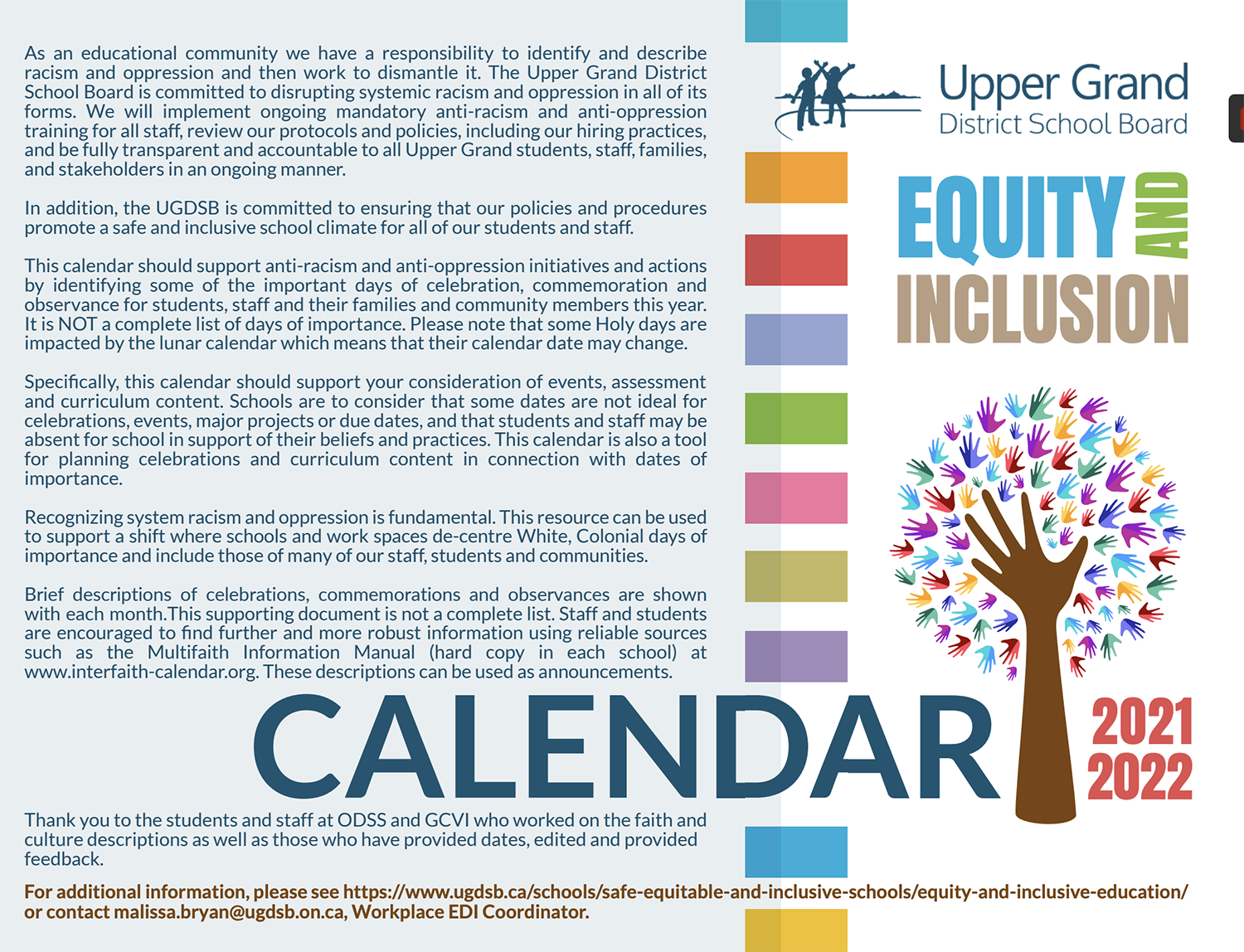 Equity And Inclusion Calendar