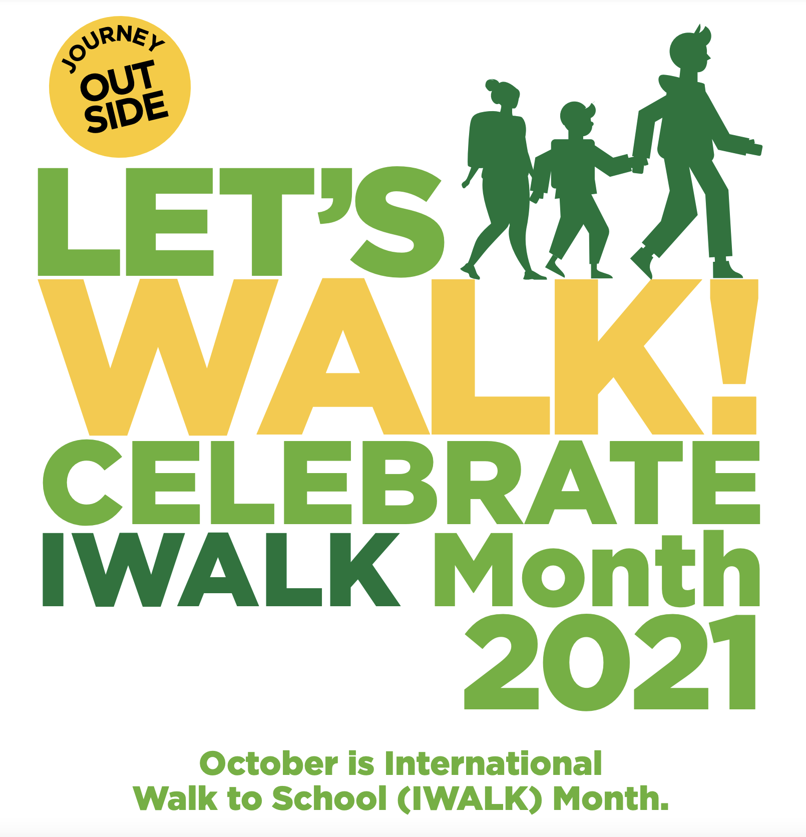 poster for walk to school month 2021
