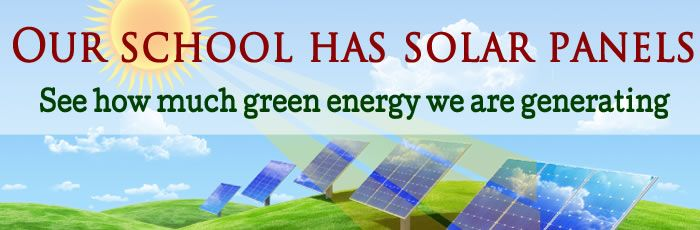 Click here to view how much green energy we are generating